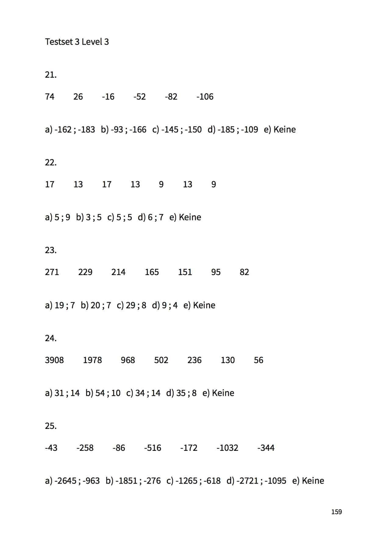 MedAT Buch Zahlenfolgen
